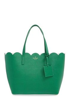 kelly green scalloped tote Clothing, Shoes & Jewelry : Women : Handbags & Wallets : http://amzn.to/2jE4Wcd