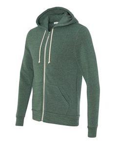 3ea92b5c Alternative 9590 - Eco-Fleece™ Rocky Hooded Full-Zip Sweatshirt Hoodies,  Sweatshirts