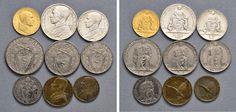 NumisBids: Nomisma Spa Auction 50, Lot 313 : Pio XII (1939-1958) Divisionale 1944 A. VI – 100, 10, 5, 2 e una...