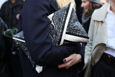 Large printed clutch.