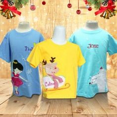 Personalized Christmas Embroidery T-Shirt