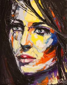 """""""I am the way I am"""", palette knife portrait from my """"colorful emotion"""" series, oil on canvas. 30x24 cm"""