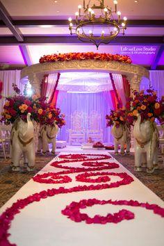 TPC Jacksonville Florida Wedding, Traditional Mandap, Full Formation, Grand Mandap, Shades of Pink, Shades of Orange, Suhaag Garden, Florida Indian Wedding