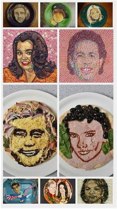 Talk about edible art! Check out this awesome new take on celebrity portraits.