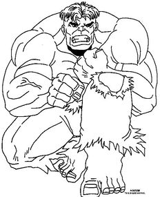Hulk Coloring Pages Avengers Superhero For Boys