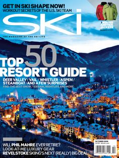 This was the cover of the 2008 SKI Resort Guide with Deer Valley on the cover. We drop this year's Resort Guide in a few weeks. Snowboard Magazine, Ski Magazine, Ski And Snowboard, Ski Ski, Best Skis, A Moment In Time, Whistler, Night Life, The Past