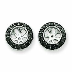 14k WG Black Diamond Earring Jackets RedBoxJewels.com. $319.95