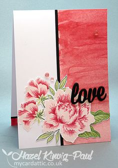 My Card Attic: Altenew's Peony Bouquet, Bits & Bobs Card