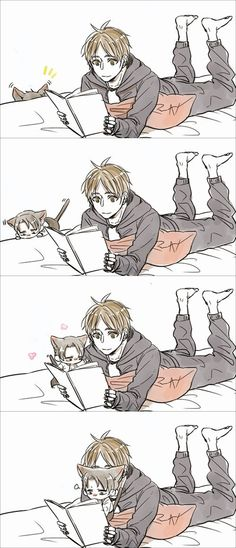Shingeki no Kyojin - Eren and Levi (This is the most freaking adorable thing ever!)