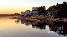 Morning Gold - harbor in Plymouth, MA - Janice Drew