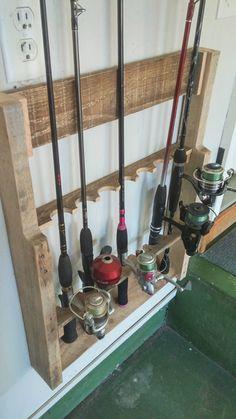 Custom Fishing Rod Holder by ArkadiaWoods on Etsy https://www.etsy.com/listing/398630777/custom-fishing-rod-holder