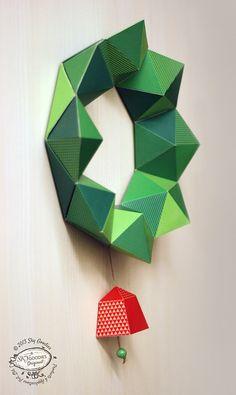 DIY Paper Christmas Wreath / Decor Geometric por SkyGoodies