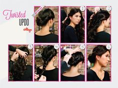 DIY Twisted Updo