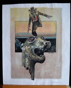 Toppi, Sergio - watercolour on print - W.B.