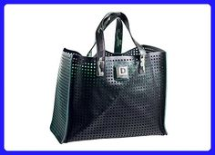 Landfill Dzine Perforated Recycled Grocery Tote and fold over clutch - Shoulder bags (*Amazon Partner-Link)