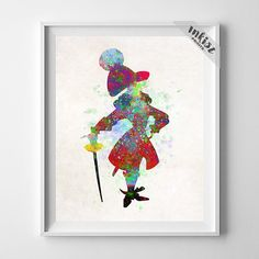Captain Hook, Peter Pan Poster, Peter Pan Print, Peter Pan Art, Disney Art, Gift Idea, Watercolor Print, Watercolor Painting, Gift For Him, Wall Art. PRICES FROM $9.95. CLICK PHOTO FOR DETAILS.#inkistprints #watercolor #watercolour #giftforher #homedecor #wallart #walldecor #poster #print #christmas #christmasgift #weddinggift #nurserydecor #mothersdaygift #fathersdaygift #babygift #valentinesdaygift #painting #dorm #decor #livingroom #bedroom