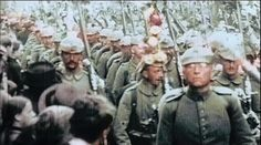 This is a collection of rareWWIfootage. In the video you'll seeGerman soldiers marching through the Brandenburg gate in Berlin, confident that the war w