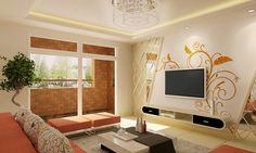 Awesome Living Room Interior Design With Wall Decorating Ideas Artistic