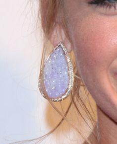 Lorraine Schwartz carved jade, diamond and platinum earrings, gorgeous!
