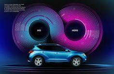 Nissan infiniti symbol, data visualization, purple magenta