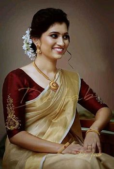 Jewelry on blouse - beautiful handwork embroidery that makes your blouse all the more glamorous. Get it custom made for you , connect with us on The Blouse Store dot Com Kerala Saree Blouse Designs, Wedding Saree Blouse Designs, Saree Blouse Neck Designs, Simple Blouse Designs, Stylish Blouse Design, Saree Blouse Patterns, Saree Wedding, Bridal Sari, Wedding Dresses