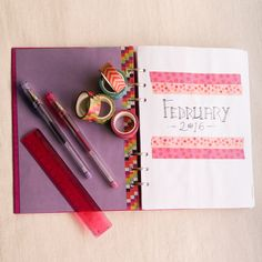 Filofax Clipbook Planner and Bullet Journal Set-Up Month Front P