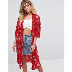 New Look - Plissierter Kimono - Rot