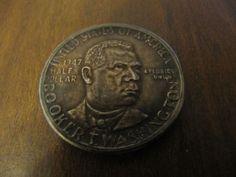1947-D BOOKER T. WASHINGTON COMMEMORATIVE HALF DOLLAR CHOICE AU TONED ATTRACTIVE