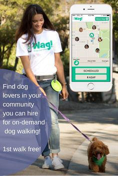 Get experienced dog walkers at your door in minutes! First walk free!