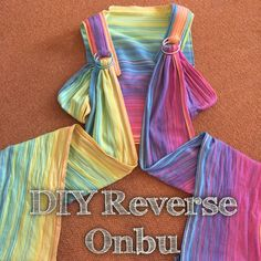 DIY Reverse Onbu this is beautiful. I this I'd prefer a reverse Onbu.