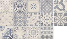 "Mainzu Ceramica ""Antiqua Decor"" 20 × 20 cm in different patterns chosen at random"