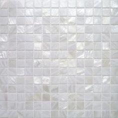 Carrelage Mosaique Nacre Véritable Blanc Pur 2x2 cm - Plaque - Matière Mosaique