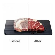 Quick Meat Thawing Board Eco-Friendly Thawing Plate Extra Large Thawing Tray for Frozen Meat Maison /& Beyond Premium Defrosting Tray Extra Thick Defrosting Plate for Meat Easy Thaw,