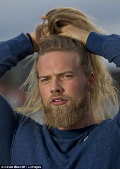 Pretty neat: The 30-year-old watched a video on YouTube to learn how to plait his hair lik...