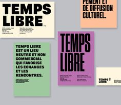 Temps Libre identity and website - Fonts In Use Poster Design, Poster Layout, Print Layout, Type Design, Layout Design, Print Design, Corporate Design, Branding Design, Logo Design