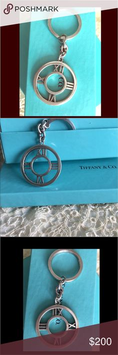 Tiffany & Co. Sterling Silver Atlas Key Fob. Tiffany & Co. Sterling Silver Atlas Key Fob. Gorgeous piece – completely sold out on Tiffany's website. This keychain is part of the atlas 2004 collection. 100% sterling silver, .925 including the ring itself. Slight signs of wear as this was a sample piece designed by my Dad. PRICE REFLECTS WEAR!!!! Tiffany & Co. Accessories Key & Card Holders