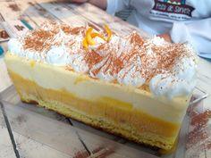 Torta bolo de laranja. (Feito de Sorvete, Porto Alegre, RS, Brasil)