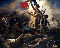 FRENCH REVOLUTION LIBERTY GUIDES PEOPLE FINE ART REAL CANVAS GICLEE 8X10 PRINT #Realism Painting Frames, Painting Prints, Body Painting, Baroque Painting, Baroque Art, Oil Paintings, July Revolution, French Revolution, Revolution Poster