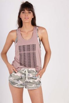 ACTIVE RACER BACK CROP TANK