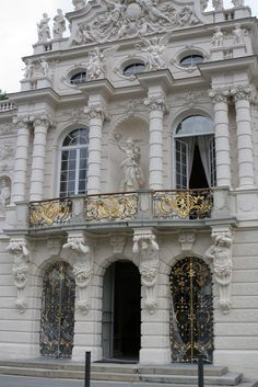 Front Facade Linderhof Palace Germany