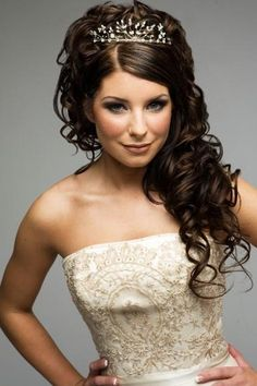 55 epic wedding hair down styles for 2019 – hairstylecamp Wavy Wedding Hair, Quinceanera Hairstyles, Princess Hairstyles, Wedding Hairstyles For Long Hair, Wedding Hair And Makeup, Bride Hairstyles, Down Hairstyles, Bridal Hair, French Hairstyles