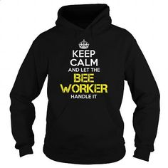 BEE WORKER Keep Calm 1 - #zip up hoodie #geek t shirts. GET YOURS =>…