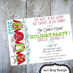 UGLY SWEATER Christmas Party Invite Printable by luvbugdesign, $14.00