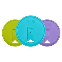 Amazon.com: iLIDS Mason Jar Drink Lid, Wide Mouth, Beach Colors, 3-Pack: Kitchen & Dining