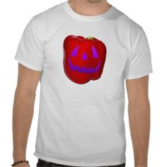 Purple Glow Red Bell Peppolantern T Shirt