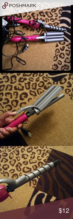 Revlon hair stylers Revlon hair crinkly and spiral curler used often very clean there is the protective black grip missing off the crinkler but it can still be used   Can be sold separately just offer!!!! Revlon Accessories Hair Accessories