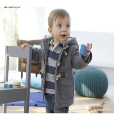2017 Christmas Toddler Baby Boys Winter Warm Outerwear Kids Thicken Hooded Faux Leather Fleece Jacket Overcoat Parka Snowsuit