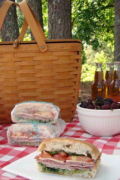 Picnic Perfect Italian Inspired Ciabatta Sandwiches