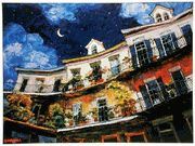 """""""Treble Tres Luna"""" Poster by Michalopoulos Book Of James, New Orleans Art, Colour Architecture, House Drawing, Artist Art, Home Art, Contemporary Art, Art Gallery, Poster Prints"""