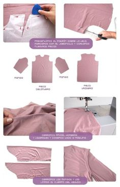 Tutorial paso a paso sobre cómo confeccionar un vestido camisero con patrón incluido Sewing Hacks, Sewing Tutorials, Sewing Collars, Sewing Stitches, Fashion Design Sketches, Pattern Drafting, Fashion Sewing, Learn To Sew, Sewing Techniques
